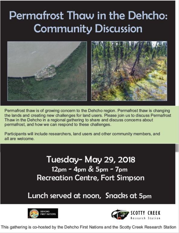 Dehcho meeting on permafrost thaw May 29 2018