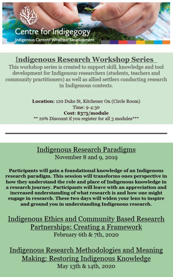IndigenousResearchWorkShopSeries