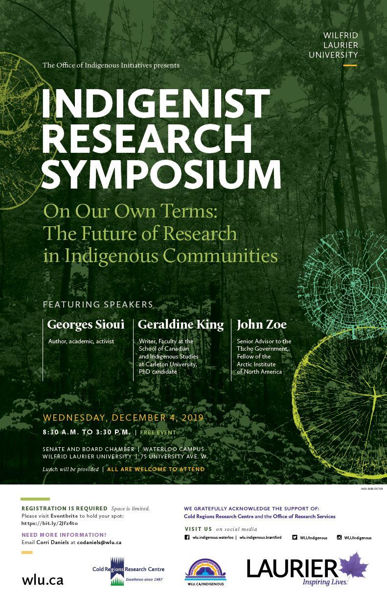 INDI-3058-OCT19 Indigenist Research Symposium 2019